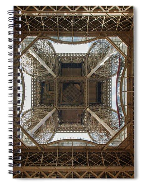 Eiffel Tower Abstract Spiral Notebook