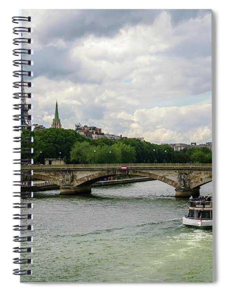 Eiffel Tower And The River Seine Spiral Notebook