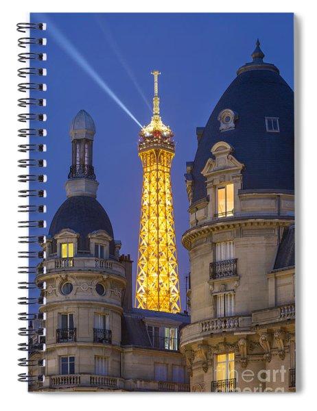 Eiffel Tower From Passy Spiral Notebook by Brian Jannsen