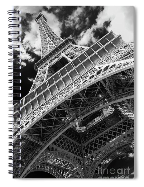 Eiffel Tower Infrared Abstract Spiral Notebook