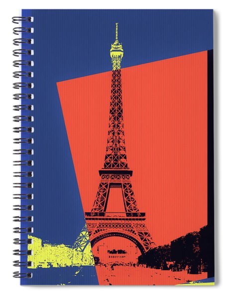 Eiffel Tower Pop Art Spiral Notebook
