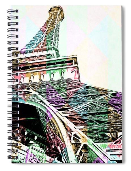 Eiffel Tower Rainbow Spiral Notebook