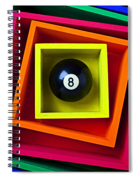 Eight Ball In Box Spiral Notebook