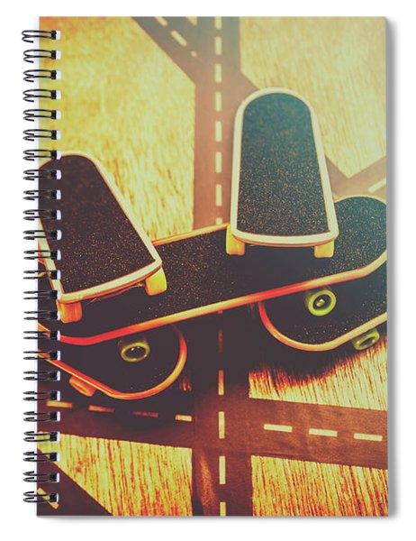 Eighties Street Skateboarders Spiral Notebook