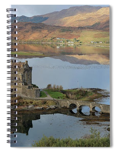 Eilean Donan Castle In Autumn - Panorama Spiral Notebook