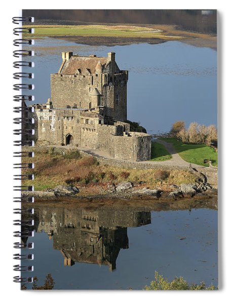 Eilean Donan Castle Reflections Spiral Notebook