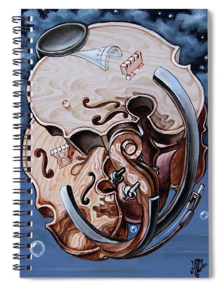 Einstein's Violin. Op.2763 Spiral Notebook