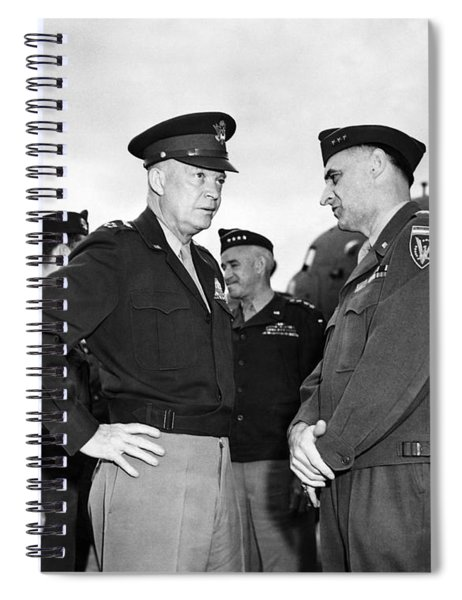 Eisenhower And General Lucius Clay - Berlin - 1945 Spiral Notebook
