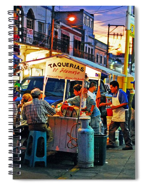 Spiral Notebook featuring the photograph El Flamazo by Skip Hunt