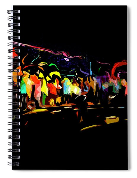 Spiral Notebook featuring the digital art Elation by Gina Harrison