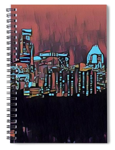 Electric Austin At Dusk Spiral Notebook