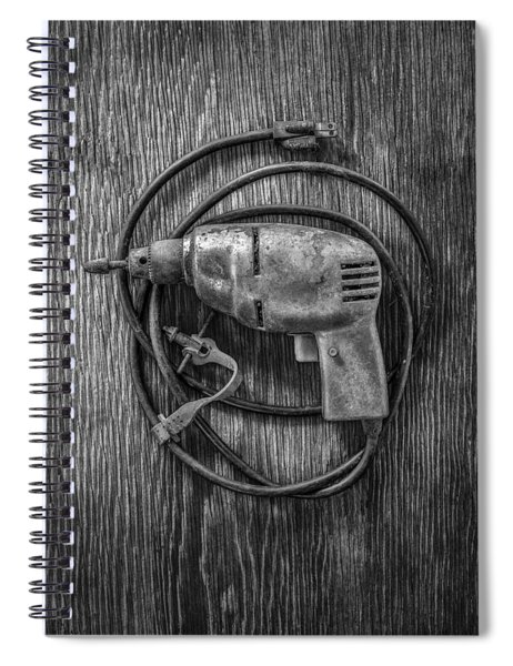 Electric Drill Motor Spiral Notebook
