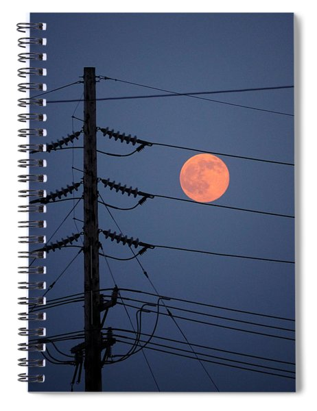 Electric Moon Spiral Notebook