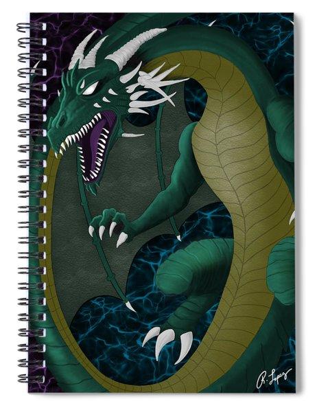 Electric Portal Dragon Spiral Notebook