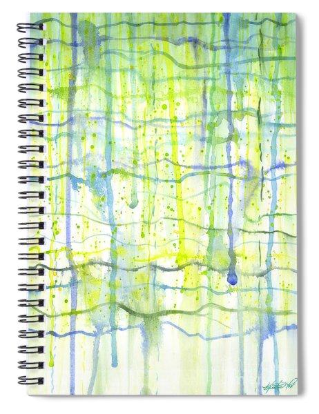 Electric Rain Watercolor Spiral Notebook