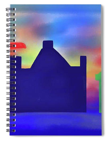 Electric Sunrise Spiral Notebook