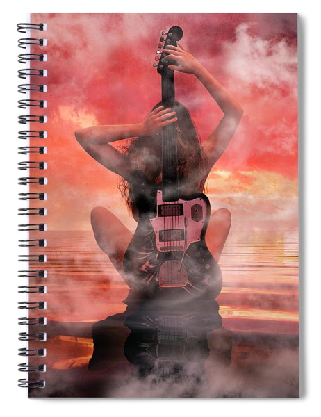 Electric Sunset Spiral Notebook