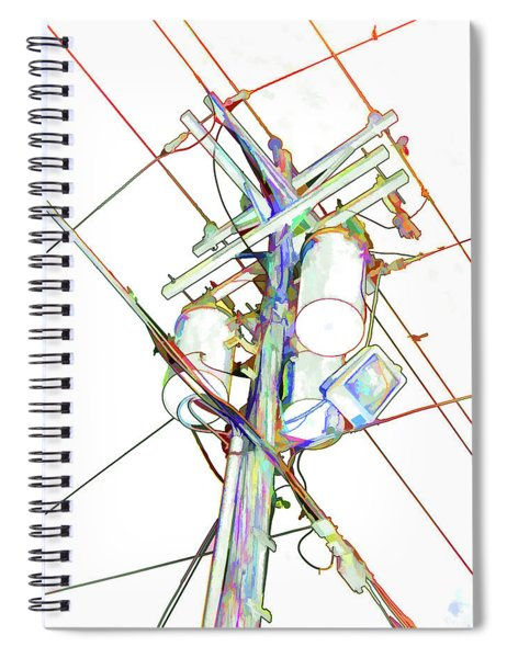 Electricity Post  Spiral Notebook