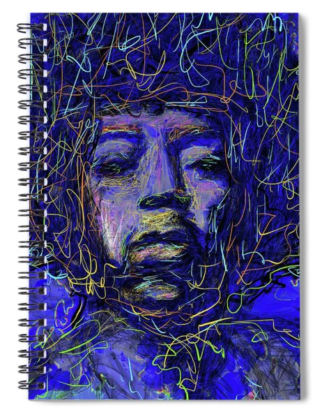 Electrifying Hendrix Spiral Notebook