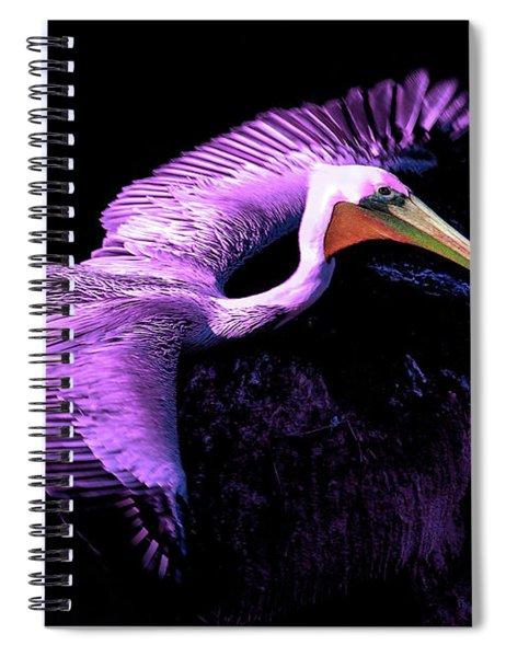 Elegant Flight In Violet Spiral Notebook