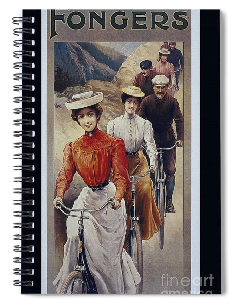Elegant Fongers Vintage Stylish Cycle Poster Spiral Notebook