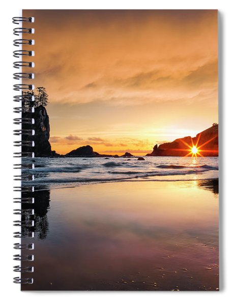 Elegant Ocean Light Spiral Notebook