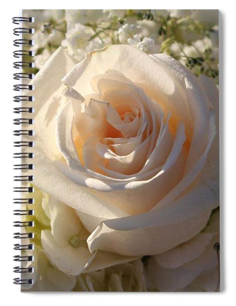 Elegant White Roses Spiral Notebook