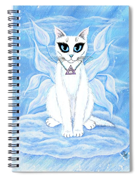 Elemental Air Fairy Cat Spiral Notebook