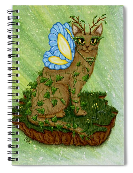 Elemental Earth Fairy Cat Spiral Notebook