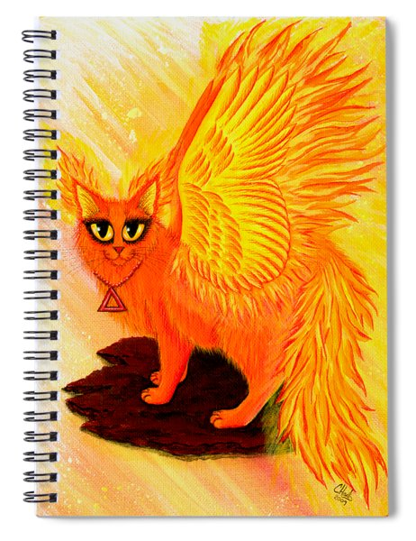 Elemental Fire Fairy Cat Spiral Notebook