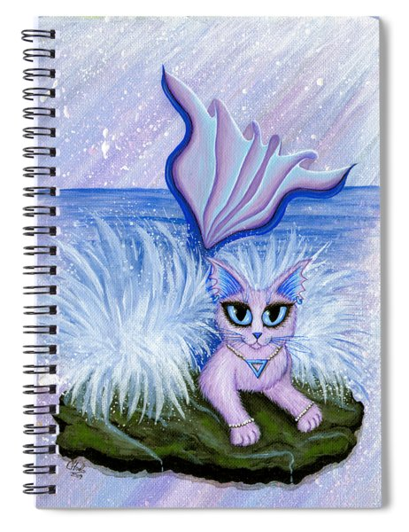 Elemental Water Mermaid Cat Spiral Notebook
