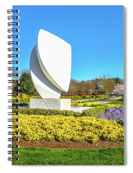 Elements Sculpture At Christopher Newport University In Springtime Spiral Notebook
