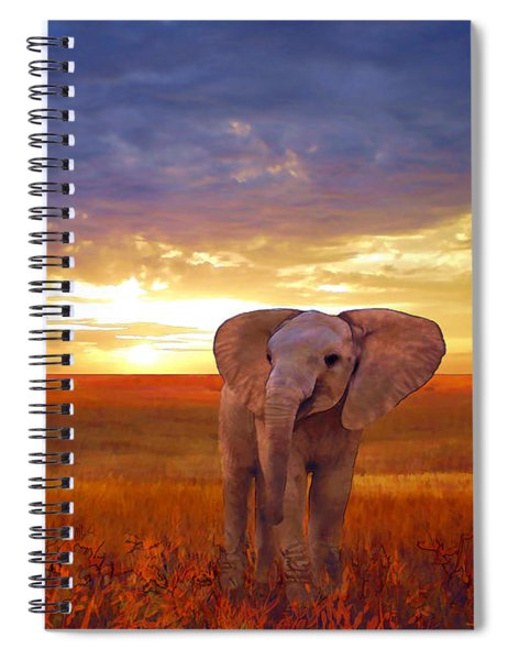 Elephant Baby Spiral Notebook