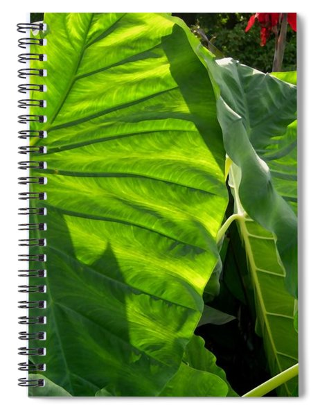Spiral Notebook featuring the digital art Elephant Ear 448 by Brian Gryphon