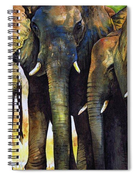 Elephant Herd Spiral Notebook