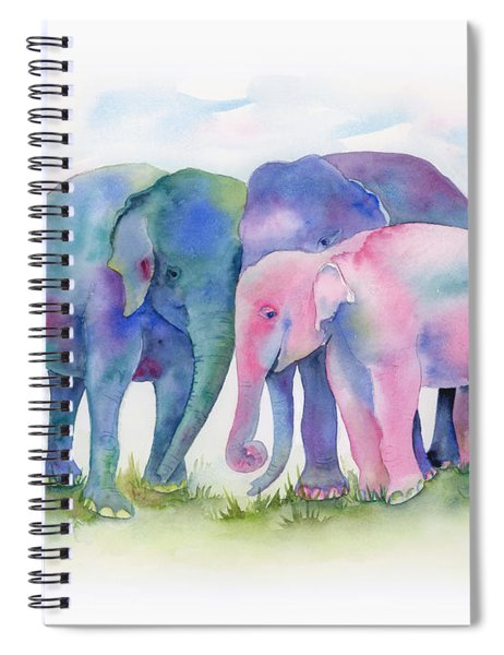 Elephant Hug Spiral Notebook