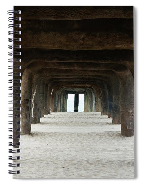 Spiral Notebook featuring the photograph Elephant Legs by Lorraine Devon Wilke