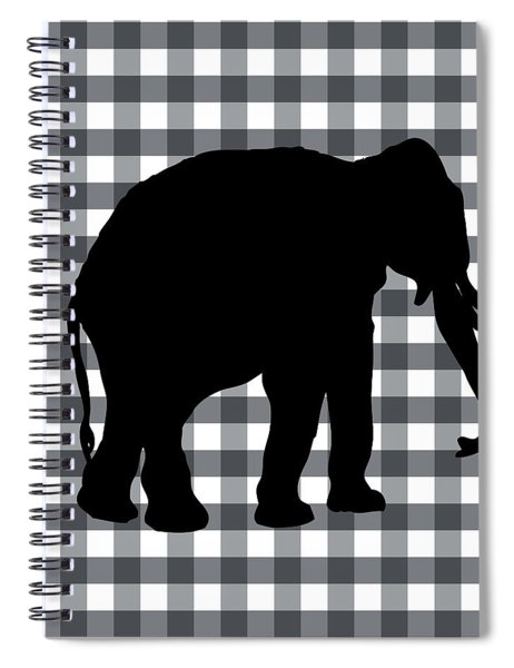 Elephant Silhouette Spiral Notebook