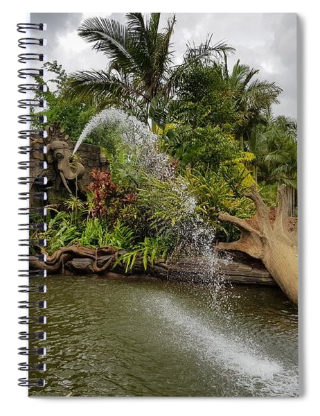 Elephant Waterfall Spiral Notebook