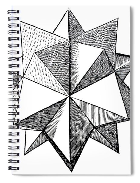 Elevated Solid Icosahedron  Spiral Notebook