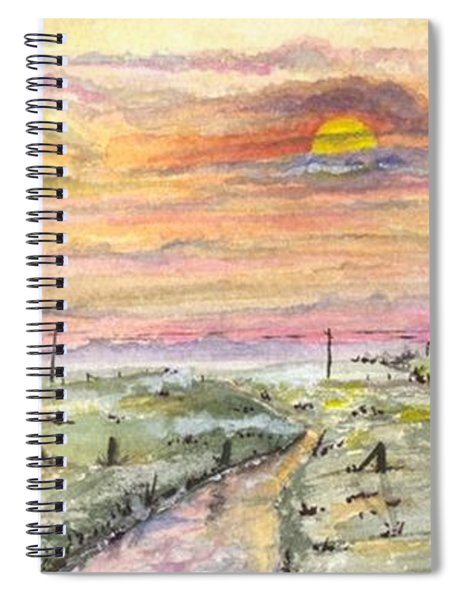 Elevator In The Sunset Spiral Notebook