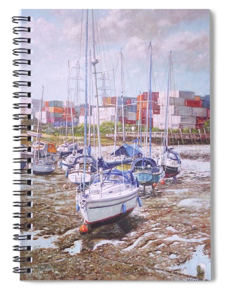 Eling Yacht Southampton Containers Spiral Notebook