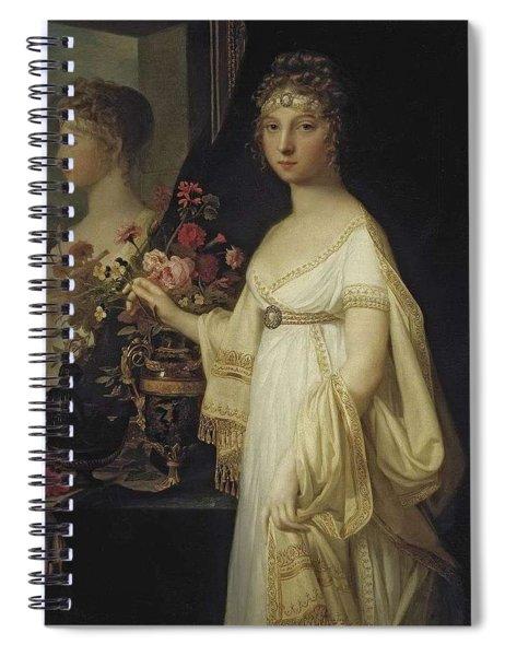 Elisabeth Alexeievna By Jean Laurent Mosnier  Location Unknown To Gogm Spiral Notebook