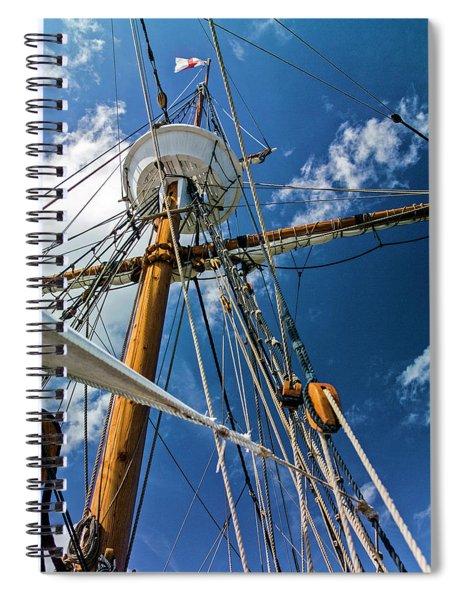 Elizabeth II Mast Rigging Spiral Notebook
