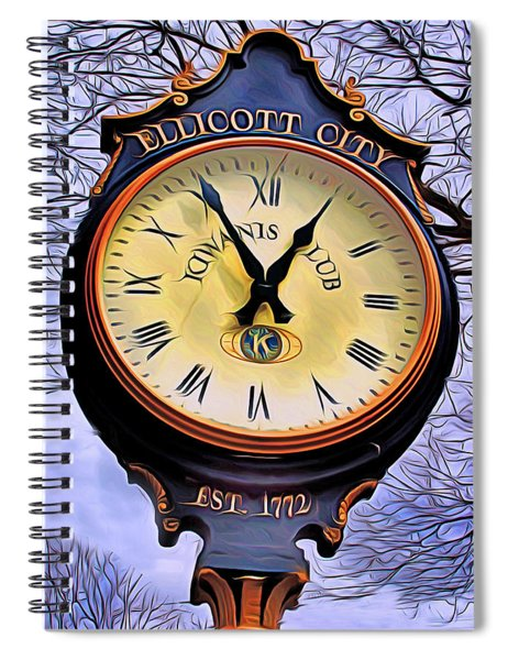 Ellicott City Clock Spiral Notebook