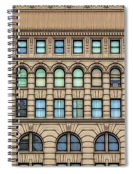 Ellicott Square Building Buffalo Ny Ink Sketch Effect Spiral Notebook