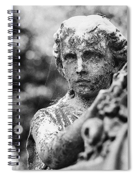 Elmwood Cemetery - Cassie Hill Bw Spiral Notebook