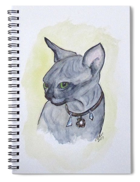 Else The Sphynx Kitten Spiral Notebook