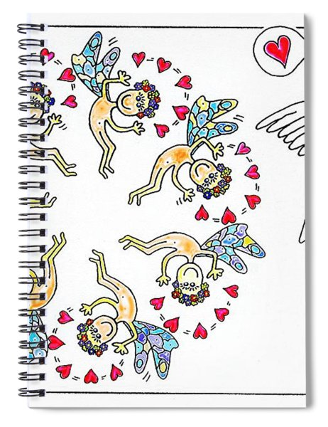 Elves And Friend Spiral Notebook