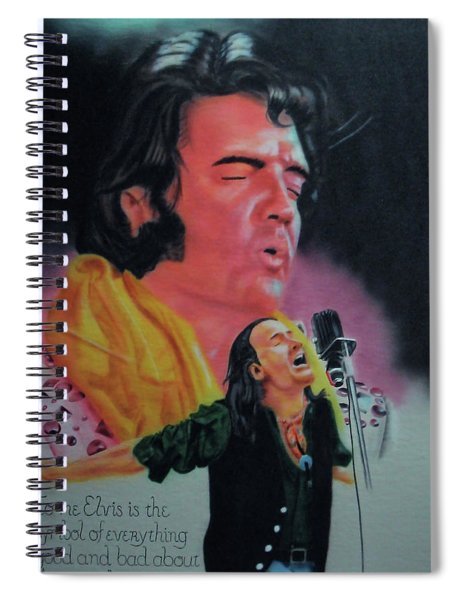 Elvis And Jon Spiral Notebook